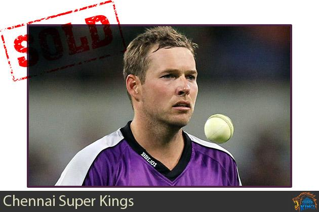 Ben Laughlin goes to the Chennai Super Kings for $20,000