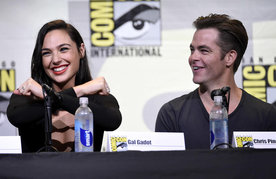 <p>The Wonder Woman star showed off her moves alongside co-star Chris Pine at Comic-Con on July 23, 2016. (Photo: Chris Pizzello/Invision/AP) </p>