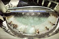 """<p><strong>Current deal: Spa days from £228</strong></p><p><strong>Closed until further notice</strong></p><p>Looking for the best spa hotels in Edinburgh? We've found the one for you. <a href=""""https://www.marriott.co.uk/hotels/travel/edisi-sheraton-grand-hotel-and-spa-edinburgh/"""" rel=""""nofollow noopener"""" target=""""_blank"""" data-ylk=""""slk:Sheraton Grand Hotel & Spa"""" class=""""link rapid-noclick-resp"""">Sheraton Grand Hotel & Spa</a> is an urban oasis, with the rooftop pool of dreams. This hydropool is the ultimate place to relax with its bubbly and steamy goodness melting your stresses away. </p><p>It's one to try any time of year (we were there in icy December and loved it!) and inside the hotel's One Spa you'll find an exciting array of spaces, from the seriously large swimming pool to the uplifting water, salt and heat experiences. </p><p><a class=""""link rapid-noclick-resp"""" href=""""https://www.marriott.co.uk/hotels/travel/edisi-sheraton-grand-hotel-and-spa-edinburgh/"""" rel=""""nofollow noopener"""" target=""""_blank"""" data-ylk=""""slk:FIND OUT MORE"""">FIND OUT MORE</a></p>"""