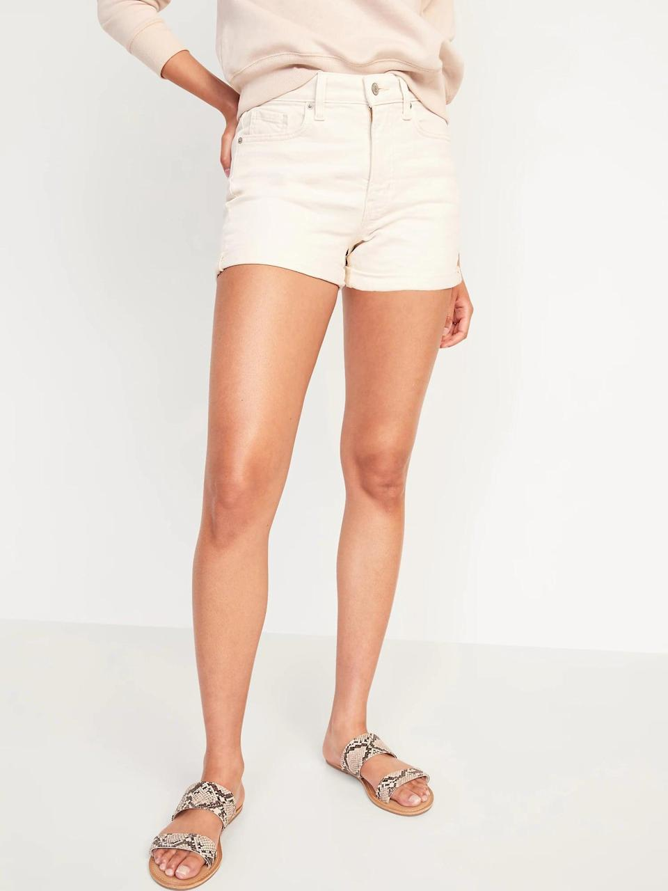 <p>Everyone needs a great pair of denim shorts, and we like these <span>Old Navy High-Waisted O.G. Straight Ecru-Wash Jean Shorts</span> ($30, originally $35).</p>