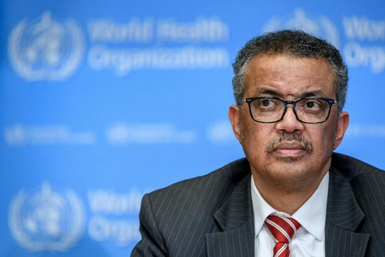 World Health Organization Director-General Tedros Adhanom Ghebreyesus, pictured in March 2020, has come under growing criticism in Washington (AFP Photo/Fabrice COFFRINI)