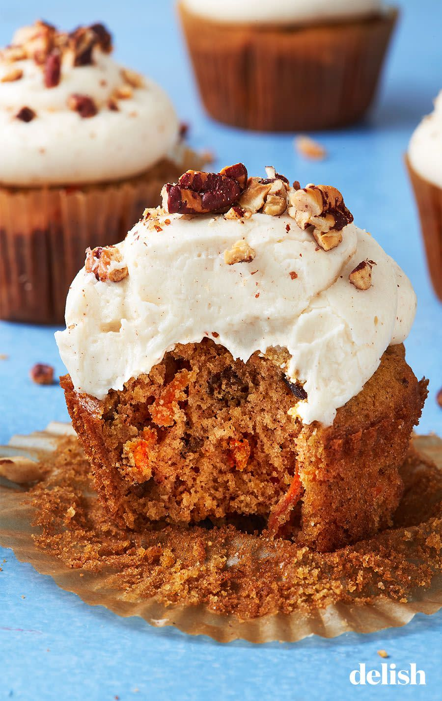 """<p>The cream cheese frosting will knock her socks off. </p><p>Get the recipe from <a href=""""https://www.delish.com/cooking/recipe-ideas/recipes/a43390/carrot-cake-cupcakes-recipe/"""" rel=""""nofollow noopener"""" target=""""_blank"""" data-ylk=""""slk:Delish"""" class=""""link rapid-noclick-resp"""">Delish</a>.<br></p>"""