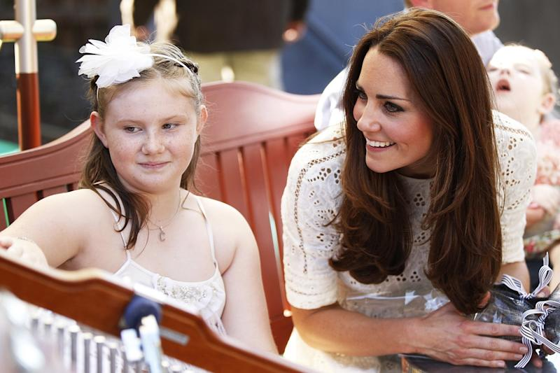 Kate Middleton and Prince William Meet Children at Bear Cottage Hospice