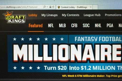 Leading fantasy sports companies FanDuel and DraftKings, whose website is seen here in 2015, immediately announced plans to branch out into sports wagering after the Supreme Court's ruling