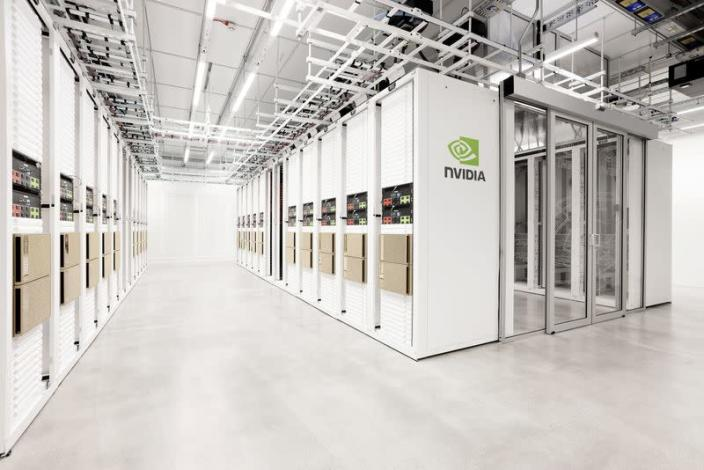 The Cambridge-1 supercomputer is seen in this undated handout photo