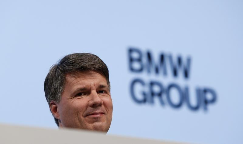 German premium automaker BMW's designated CEO Krueger reacts during company's annual news conference in Munich