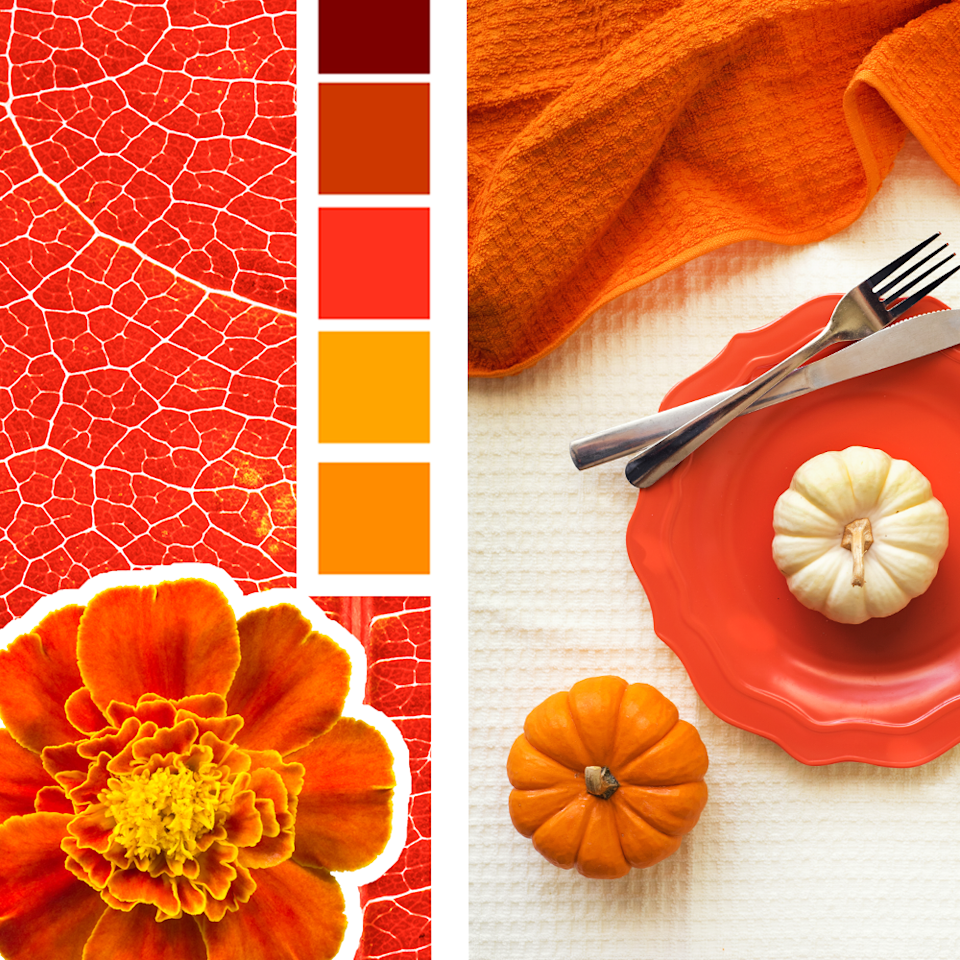"<p>Faux leaves will do the trick for capturing those beautifully vivid shades of red and orange you'll see in pumpkins, changing leaves and everywhere else this season.<br></p><p><em><a href=""https://domesticallyblissful.com/simple-festive-thanksgiving-tablescape/"" rel=""nofollow noopener"" target=""_blank"" data-ylk=""slk:See more at Domestically Blissful »"" class=""link rapid-noclick-resp"">See more at Domestically Blissful »</a></em></p>"