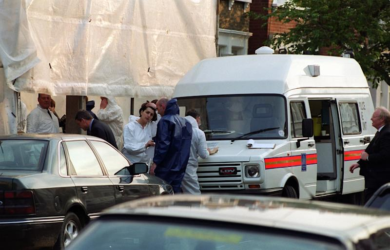 Forensic officers at Gowan Avenue in Fulham (PA Archive/PA Images)
