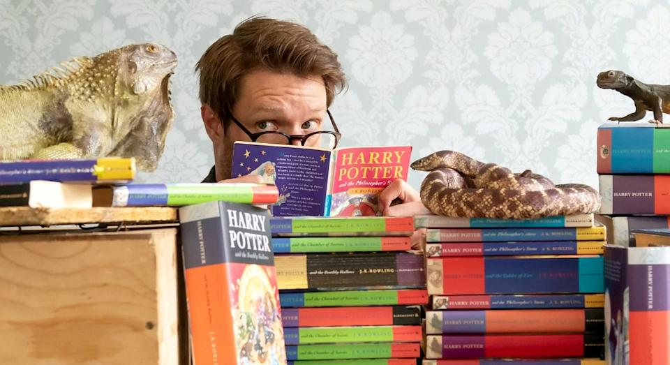 Jim Spencer, of Hansons Auctioneers, has discovered 13 first edition Harry Potter books in the last 21 months (SWNS)