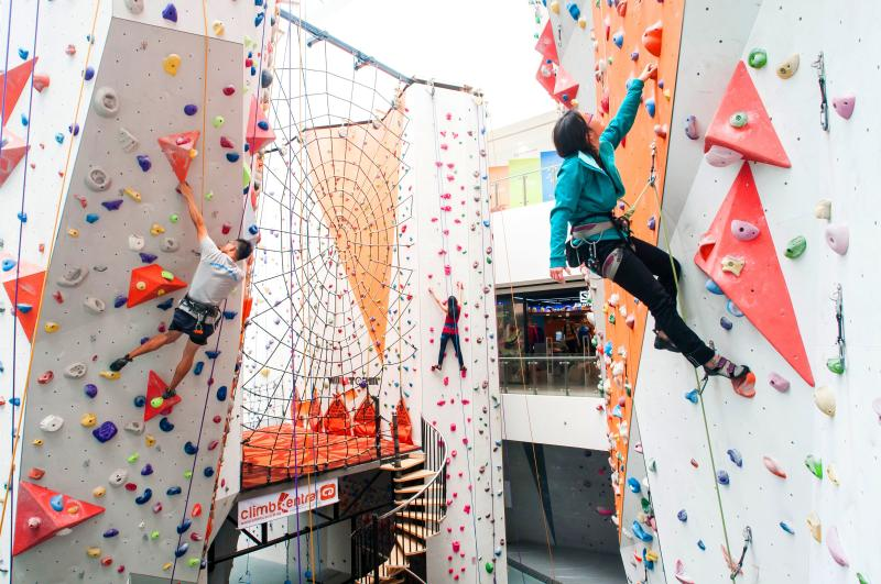 To maintain a safe distance between climbers, alternate lanes at Climb Central will be closed. (PHOTO: Singapore Sports Hub)