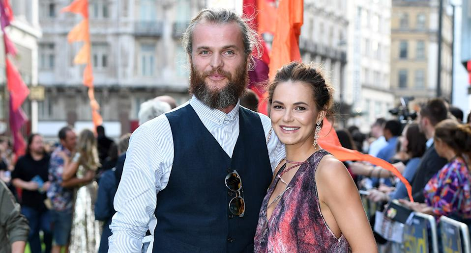 Marius Jensen and Kara Tointon attend the World Premiere of 'The Festival' at Cineworld Leicester Square on August 13, 2018 in London, England.  (Photo by Karwai Tang/WireImage)
