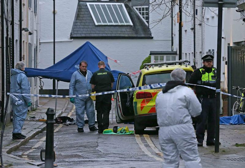 The scene in Lanfrey Place on Thursday (NIGEL HOWARD)