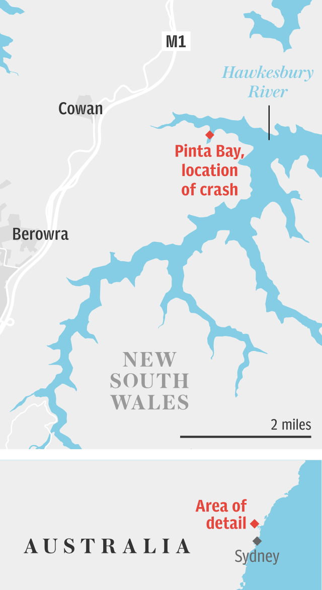 Sydney plane crash location