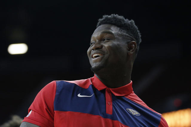 "In July, <a class=""link rapid-noclick-resp"" href=""/nba/players/6163/"" data-ylk=""slk:Zion Williamson"">Zion Williamson</a> signed an endorsement deal with Nike reportedly worth $75 million. (Getty)"