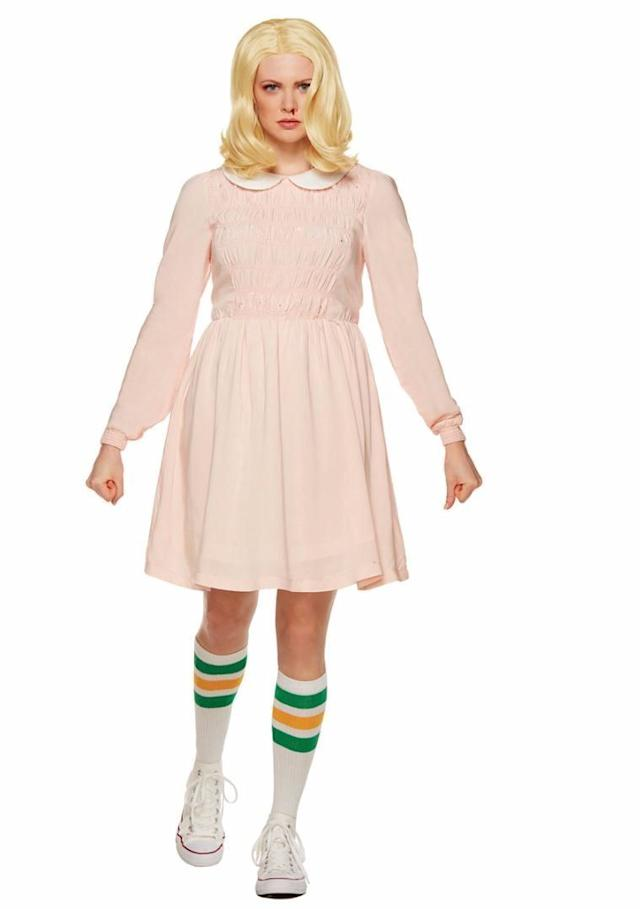 """My daughter loves """"Stranger Things"""" so I showed her <span>this costume of Eleven.</span> """"Cool,"""" she says. So I asked her if she wanted to be that for Halloween. """"No,"""" she says. """"Everyone's going as her."""" There you go."""