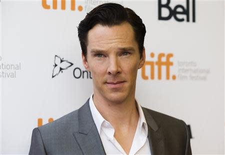 """Benedict Cumberbatch arrives for the film screening of """"12 Years a Slave"""" at the 38th Toronto International Film Festival in Toronto"""