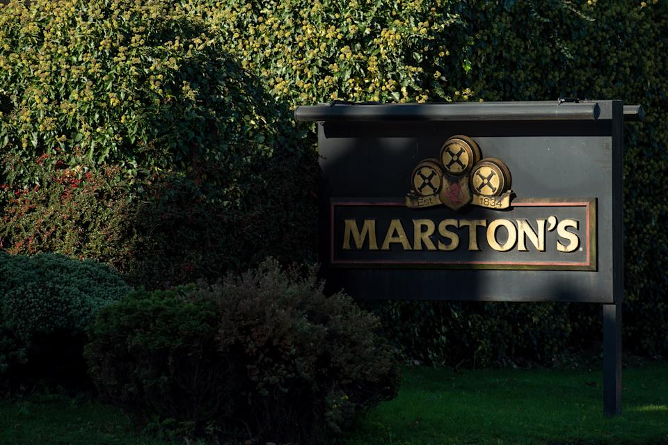 Marston's Brewery in Burton upon Trent, Staffordshire. More than 2,000 jobs are being axed at the pub chain as curfews and new coronavirus restrictions have hammered trade.