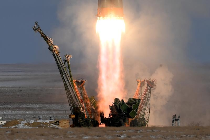Russia's Soyuz MS-07 spacecraft is going to take a more circuitous two-day route to the International Space Station due to its current position in space (AFP Photo/Kirill KUDRYAVTSEV)