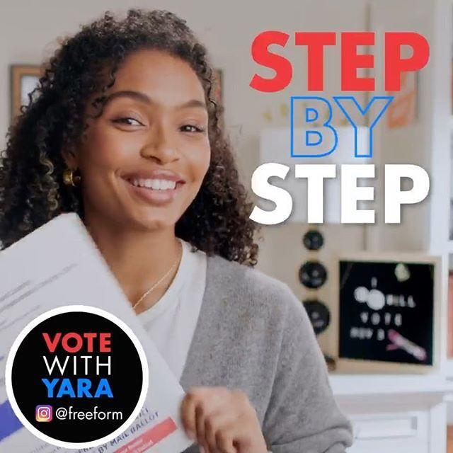 """<p>The Blackish star has even filmed a step by step 'Vote With Yara' guide to assist first time voting fans.</p><p><a href=""""https://www.instagram.com/p/CG0ANjzgMnj/"""" rel=""""nofollow noopener"""" target=""""_blank"""" data-ylk=""""slk:See the original post on Instagram"""" class=""""link rapid-noclick-resp"""">See the original post on Instagram</a></p>"""