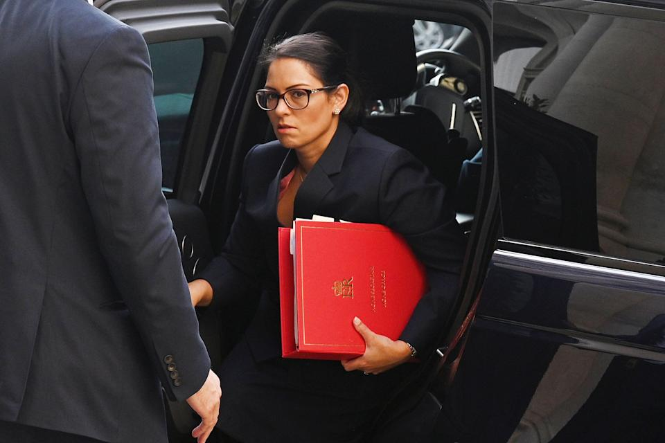 <strong>Home Secretary Priti Patel arrives for a cabinet meeting in London</strong> (Photo: POOL New / Reuters)