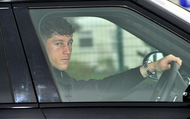 Ross Barkley pictured with black eye as he returns to Everton training following bar attack