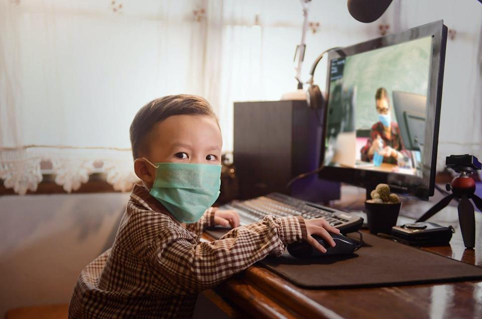"""<span class=""""caption"""">With the latest return to online school, children's data continues to be collected.</span> <span class=""""attribution""""><span class=""""source"""">(Shutterstock)</span></span>"""
