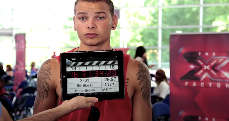 Kane Brown on 'The X Factor' at age 19. (Photo: Fox)