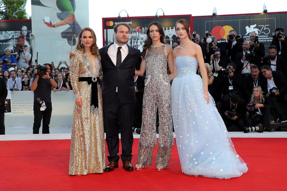 Natalie Portman, Brady Corbet, Stacey Martin and Raffey Cassidy on the Venice Film Festival red carpet. [Photo: Getty]