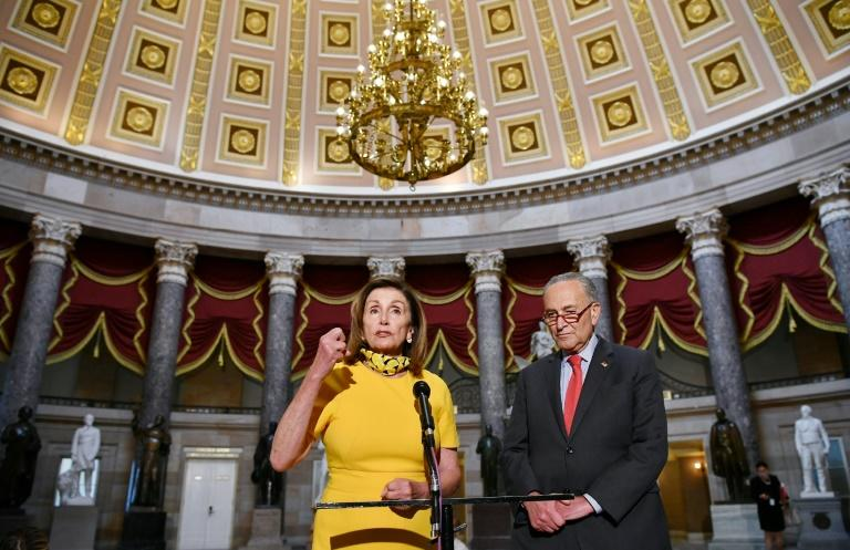 House Speaker Nancy Pelosi said she and and Senate Minority Leader Chuck Schumer, D-NY had a productive meeting with Treasury Secretary Steven Mnuchin and White House Chief of Staff Mark Meadows on a new round of coronavirus relief