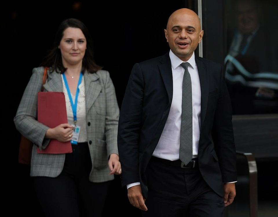 Health Secretary Sajid Javid pictured at the Conservative Party conference (Jacob King/PA) (PA Wire)