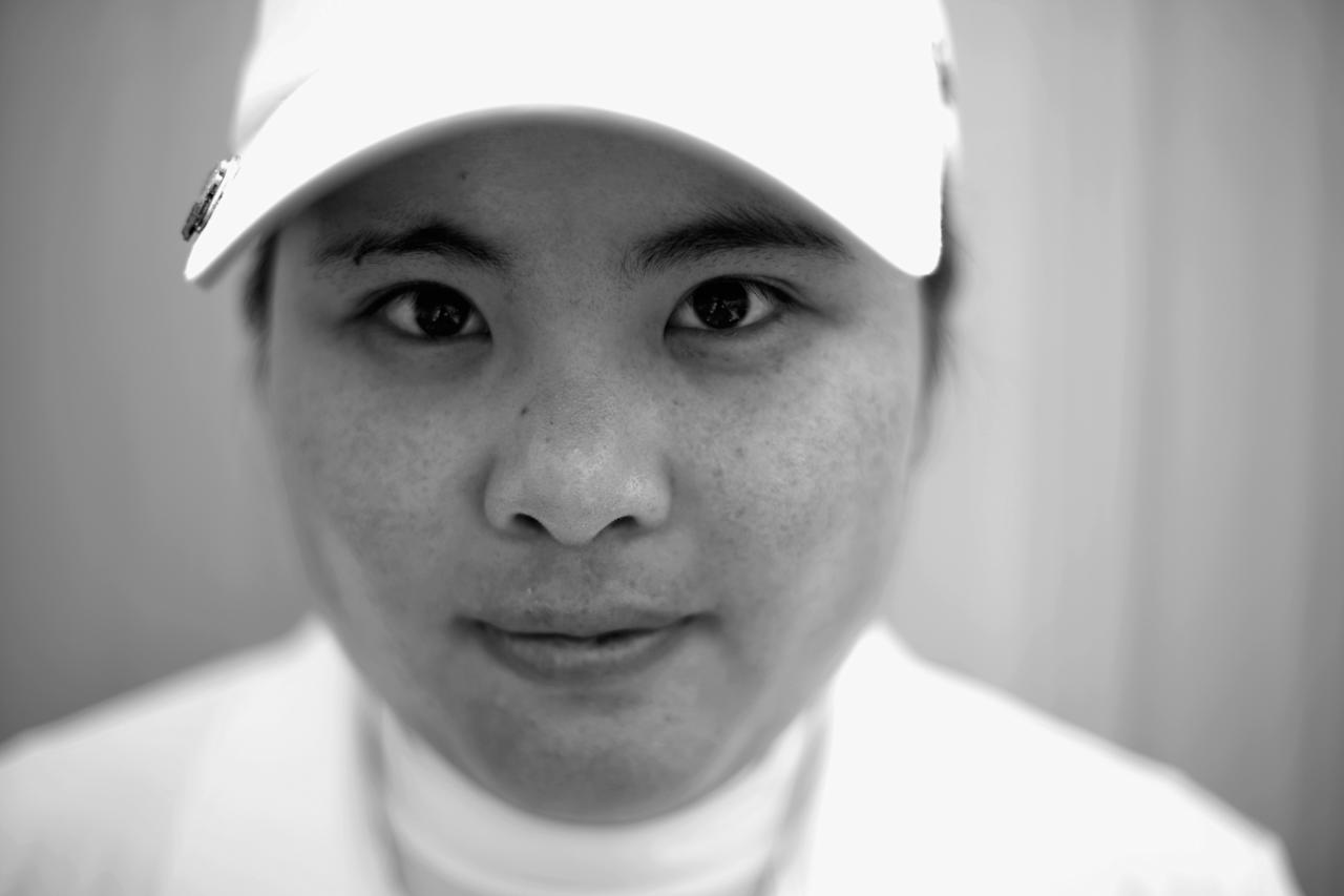 SOUTHAMPTON, NY - JUNE 25: (EDITOR'S NOTE: THIS IMAGE WAS CONVERTED TO BLACK AND WHITE) Inbee Park of South Korea poses for a portrait during a practice round prior to the start of the 2013 U.S. Women's Open at Sebonack Golf Club on June 25, 2013 in Southampton, New York. (Photo by Scott Halleran/Getty Images)