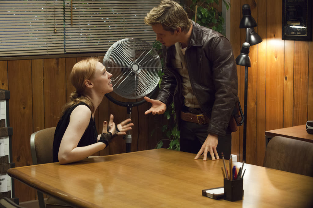"Deborah Ann Woll and Ryan Kwanten in the ""True Blood"" episode, ""Everybody Wants to Rule the World."""