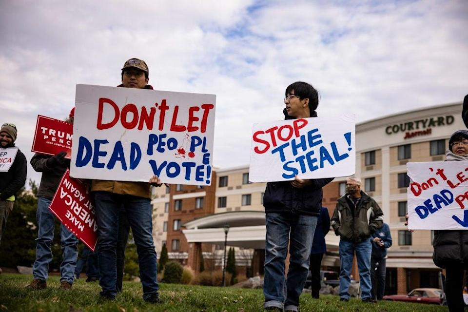 Supporters of Donald Trump have taken the president's rhetoric to heart about a stolen election, despite nearly all of his legal challenges falling flat in the courts. (Getty Images)