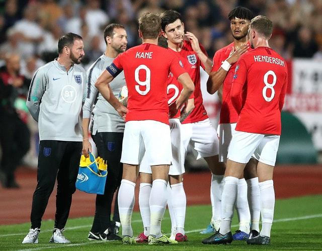 England players were targeted by racist abuse in Bulgaria in October (Nick Potts/PA)