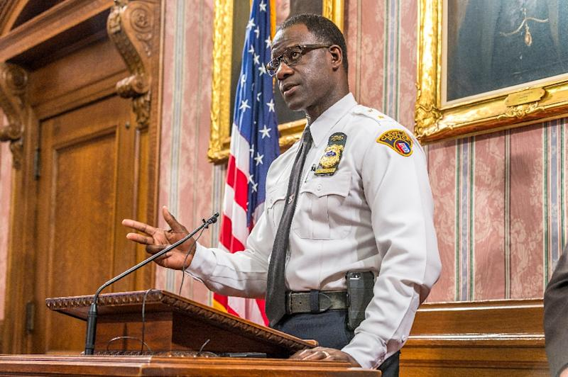 """""""This is something that should not have been shared around the world, period,"""" said Cleveland police chief Calvin Williams (AFP Photo/Angelo Merendino)"""
