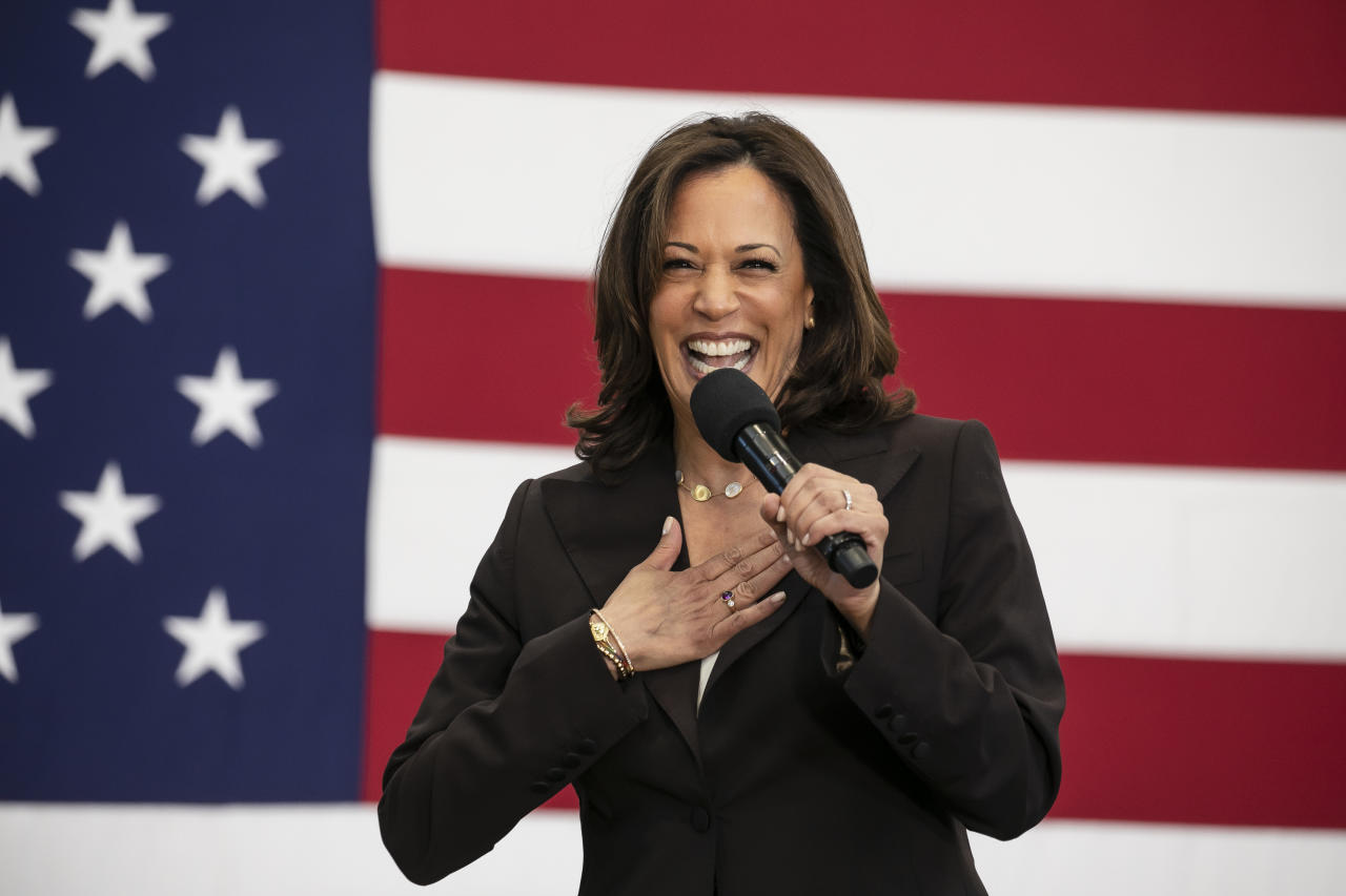 Democratic presidential candidate Senator Kamala Harris (CA) at a rally held at the Southwest College in Los Angeles, CA on May 19, 2019. (Photo by Ted Soqui/SIPA USA)