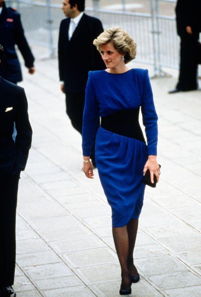 <p>By the mid-'80s, bright colors and big shoulders were heavily in fashion, but dresses began moving toward tapered hemlines, with loud trends fading into the background a bit. </p>