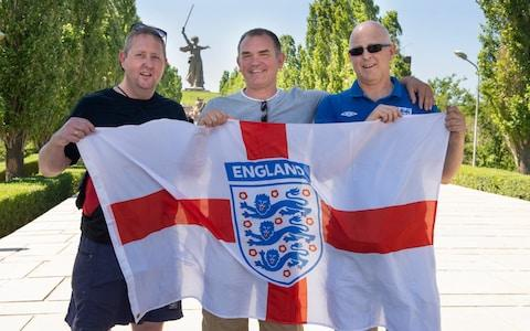 Only around 2,000 England fans travelled to Nizhny Novgorod - Credit: Julian Simmonds