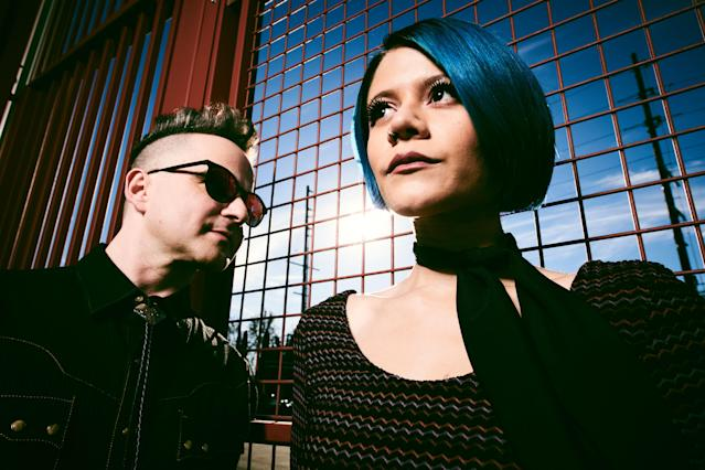 Halo Circus's Matthew Hager and Allison Iraheta. (Photo: Michael Becker)