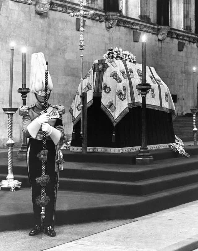 Queen Mary's lying in state