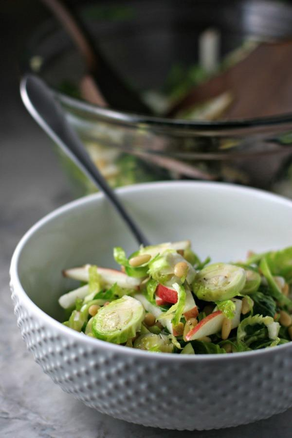 One pot dinners brussels sprout and apple salad