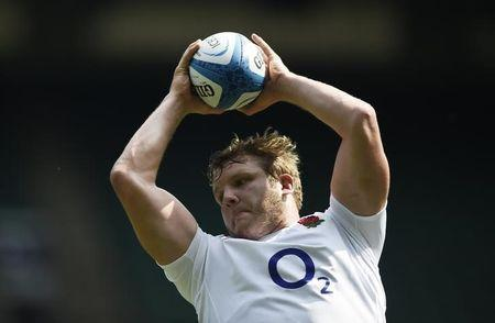Britain Rugby Union - England Training - Twickenham Stadium - June 2, 2017 England's Joe Launchbury during training Action Images via Reuters / Adam Holt Livepic