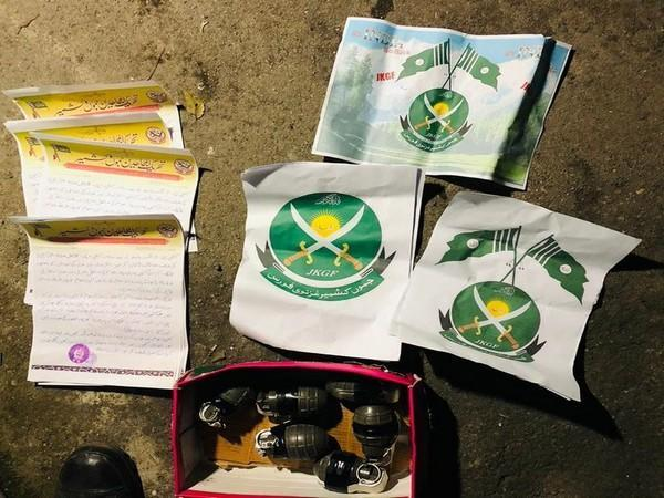 Explosive materials recovered from the terrorists in Poonch (Photo/ANI)