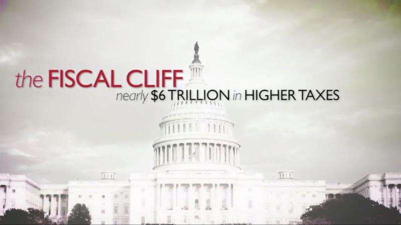 "This still image from video released by the Business Roundtable, show their online video on the ""fiscal cliff."" Picking up where the wall-to-wall election ads left off, debate over the ""fiscal cliff"" has money pouring into television, print, radio and online advertising. As Republicans and the White House joust over big tax increases and spending cuts, outside groups on both sides weigh in with major campaigns aimed at politicians and voters alike (AP Photo/Business Roundtable)"