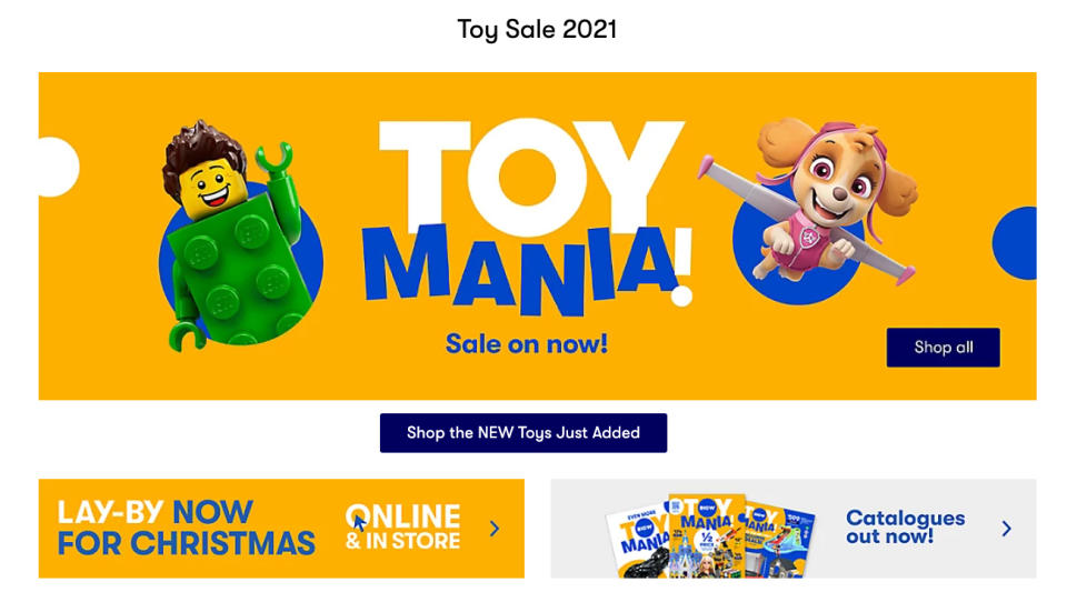 Big W's giant toy sale gets a huge reaction from customers every year. Source: Big W