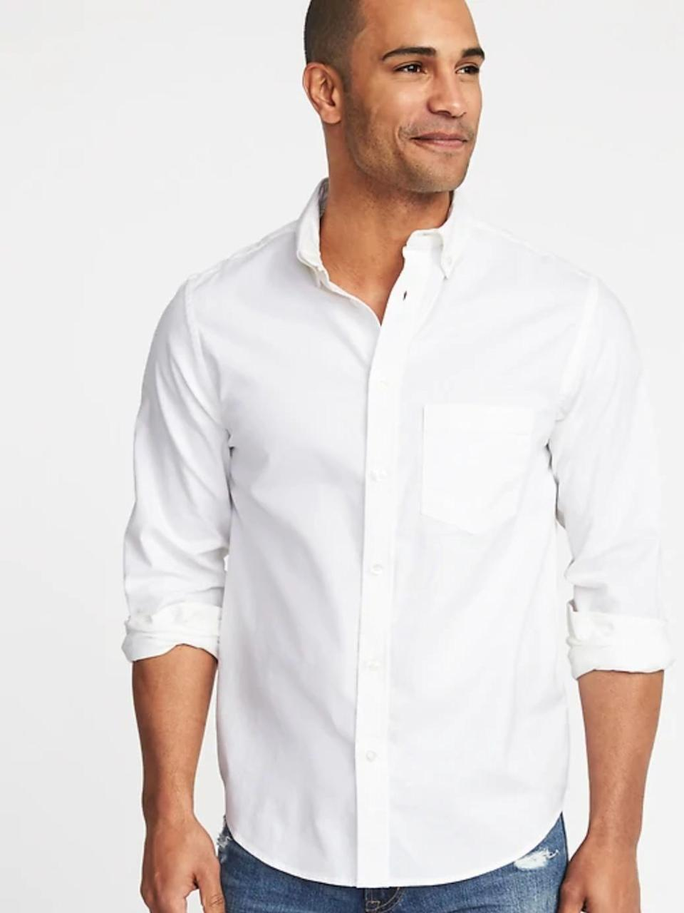 Regular-Fit Clean-Slate Built-In Flex Everyday Oxford Shirt