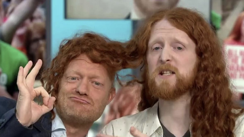 Wood appeared alongside ginger comedian Alasdair Beckett-King, who said he also makes casual jokes about ginger people (ITV)