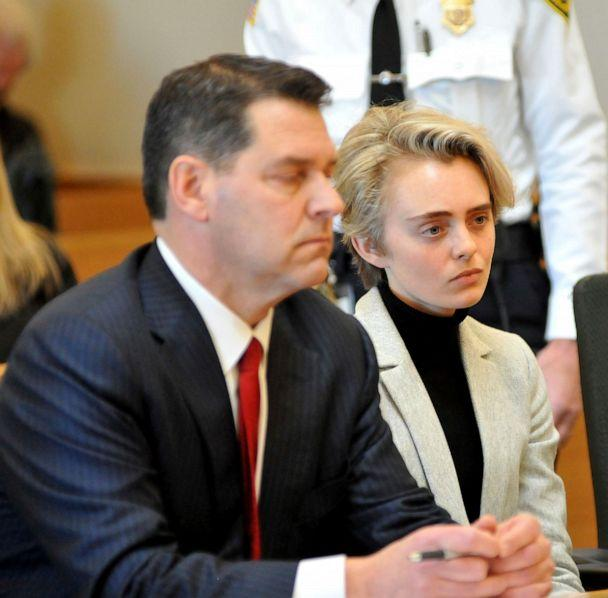PHOTO: Michelle Carter, 22, appears in Taunton District Court in Taunton, Mass. Feb. 11, 2019, for a hearing on her prison sentence. (Mark Stockwell/The Sun Chronicle via AP, FILE)