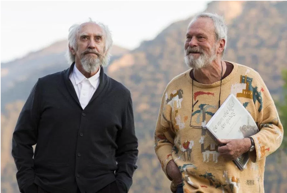 Pryce and Gilliam in The Man Who Killed Don Quixote (Credit: Kinology)