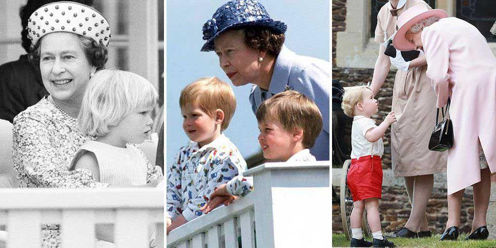 "<p><a href=""https://www.harpersbazaar.com/celebrity/latest/g10021446/queen-elizabeth-rare-photos/"" target=""_blank"">Queen Elizabeth II</a> has had many special moments with her grandchildren and great-grandchildren captured by photographers, from official portraits to sneaky smiles on the job. The Queen officially became a grandmother in 1977, when Princess Anne gave birth to Peter Phillips, and she has a grand total of eight grandchildren (from oldest to youngest: Peter Phillips, <a href=""https://www.harpersbazaar.com/celebrity/latest/a21622610/who-is-zara-tindall-phillips-queen-elizabeth-granddaughter/"" target=""_blank"">Zara Tindall</a>, Prince William, Prince Harry, Princess Beatrice, <a href=""https://www.harpersbazaar.com/celebrity/latest/a15836773/princess-eugenie-wedding-date-location-facts/"" target=""_blank"">Princess Eugenie</a>, Lady Louise, and James, Viscount Severn) and eight great-grandchildren (<a href=""https://www.harpersbazaar.com/celebrity/latest/a21246098/trooping-the-colour-2018-savannah-phillips/"" target=""_blank"">Savannah Phillips</a>, Isla Phillip, <a href=""https://www.harpersbazaar.com/celebrity/latest/a22488433/prince-george-fifth-birthday-portrait/"" target=""_blank"">Prince George</a>, Mia Tindall, <a href=""https://www.harpersbazaar.com/celebrity/latest/a21754889/prince-william-princess-charlotte-pink-backpack/"" target=""_blank"">Princess Charlotte</a>, <a href=""https://www.harpersbazaar.com/celebrity/latest/g22075718/prince-louis-christening-photos/"" target=""_blank"">Prince Louis</a>, Lena Tindall, and <a href=""https://www.harpersbazaar.com/celebrity/latest/a27260052/meghan-markle-royal-baby-name-archie-meaning/"" target=""_blank"">Archie Harrison Mountbatten-Windsor</a>.)</p><p>Although it may be hard to keep the whole family tree straight, watching the family grow and work together over the years has been exciting. The Queen in particular spends a lot of time with the young royals. Click through to see some of the sweetest moments from their interactions over the years.</p>"